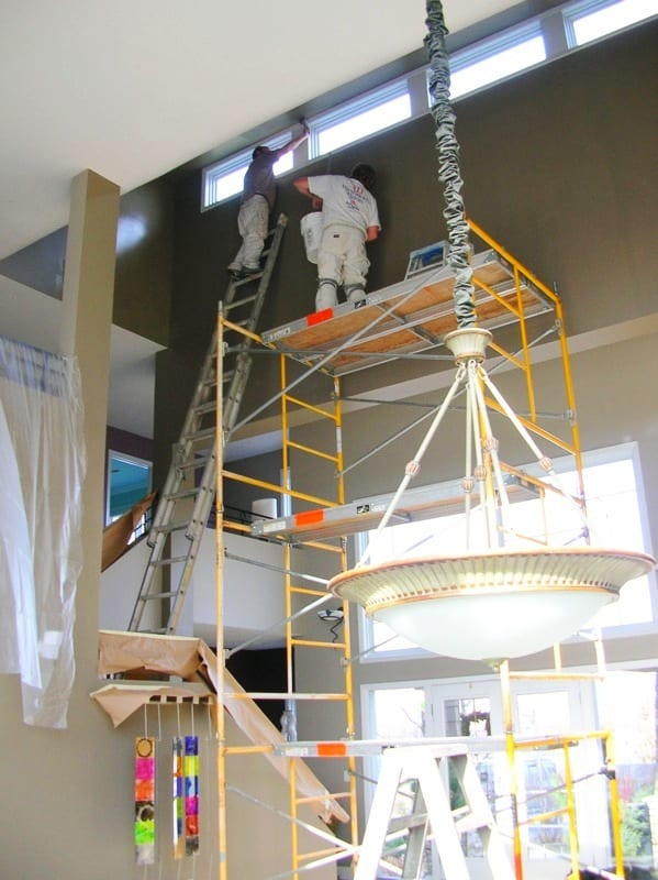 Residential interior painters working on home near Lake Minnetonka